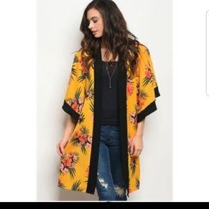 🆕️ Mustard Floral Kimono 🆕️
